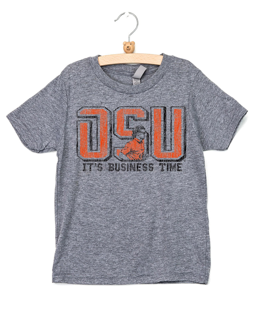 Children's OSU Business Time Gray Tee