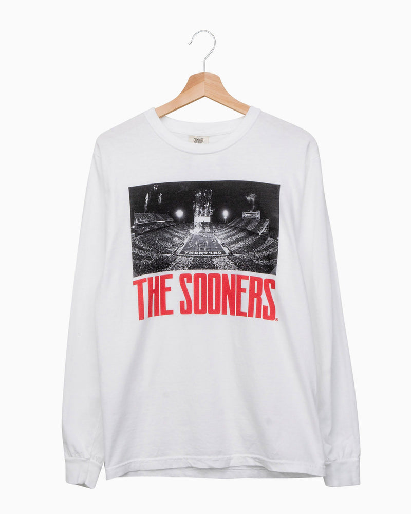 Sooners Stadium White Long Sleeve Comfort Colors Tee
