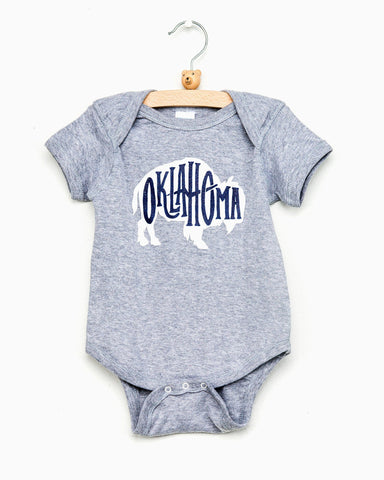Children's USA Puff Outline Navy Tee