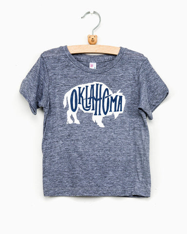 Children's Retro Circle Tri-Navy Tee (FINAL SALE)