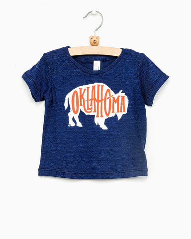 Children's Oklahoma Sweater Bison Red Tee