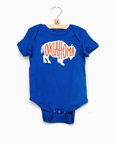 Children's Gray Made in Oklahoma Onesie