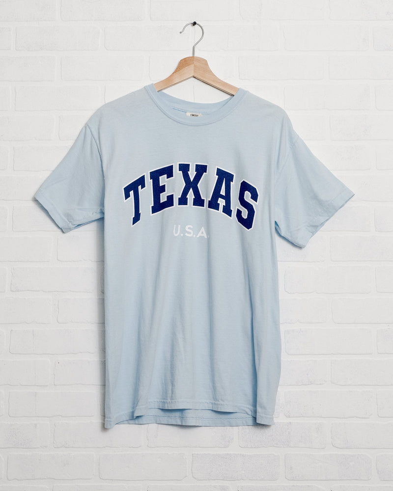 Texas USA Filled Gault Chambray Comfort Colors Tee