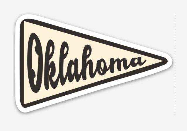 Oklahoma Pennant Decals (3942105972839)