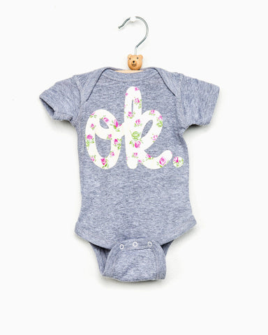Gray Polka Dot Bison Onesie