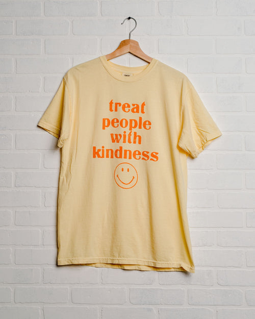 Treat People with Kindness Butter Comfort Colors Tee