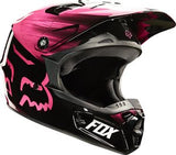 Fox V1 Youth Vandal Pink Helmet - motoedge