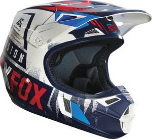 2016 Fox V1 Youth Vicious Black/White Helmet - motoedge  - 1