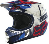 2016 Fox V1 Youth Vicious Black/White Helmet - motoedge  - 2