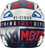 2016 Fox V1 Youth Vicious Black/White Helmet - motoedge  - 3