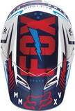 2016 Fox V1 Youth Vicious Black/White Helmet - motoedge  - 4