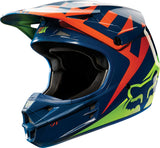 Fox V1 Navy/Yellow Helmet - motoedge  - 2