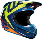 Fox V1 Navy/Yellow Helmet - motoedge  - 1