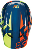 Fox V1 Navy/Yellow Helmet - motoedge  - 3