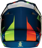 Fox V1 Navy/Yellow Helmet - motoedge  - 4