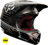 Fox V4 carbon reveal black - motoedge  - 1