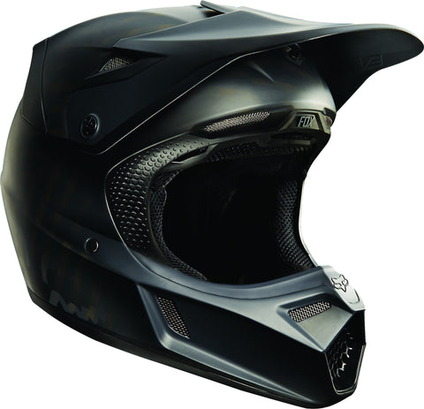 2016 Fox V3 Matte Black Helmet - motoedge  - 1