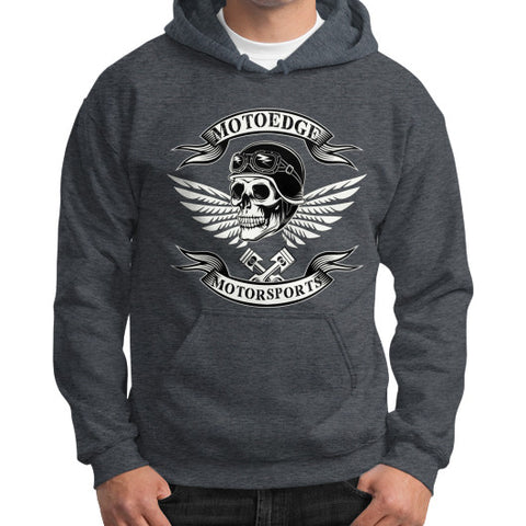 Gildan Hoodie (on man) - motoedge  - 1