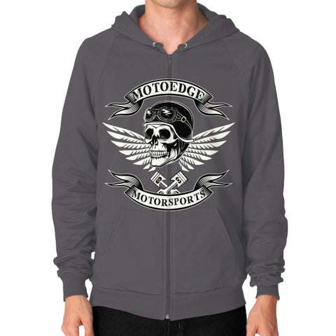 Zip Hoodie (on man) - motoedge  - 2