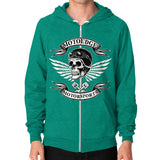 Zip Hoodie (on man) - motoedge  - 13