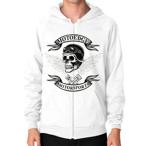 Zip Hoodie (on man) - motoedge  - 1