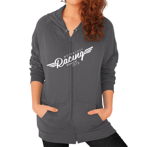 Zip Hoodie (on woman) - motoedge  - 2