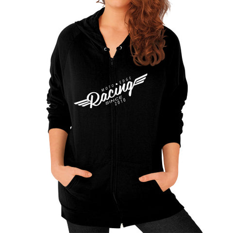 Zip Hoodie (on woman) - motoedge  - 1