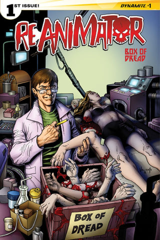 Reanimator #1 Signed in Gold Ink by Keith Davidsen BOD Exclusive Variant Cover