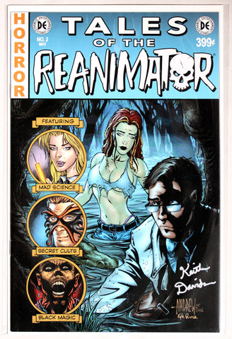 Reanimator #2 Signed in Silver by Keith Davidsen EC Style Variant Cover