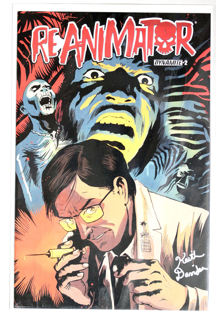 Reanimator #2 Signed in Silver by Keith Davidsen Variant Cover