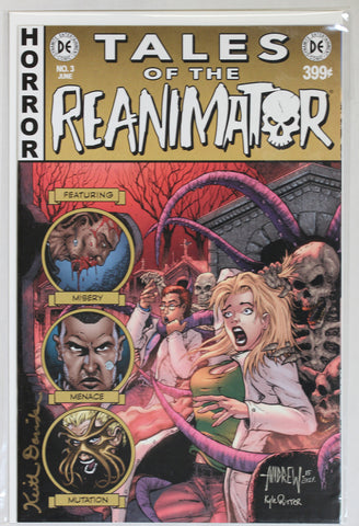 Reanimator #3 Signed in Gold by Keith Davidsen EC Style Variant Cover