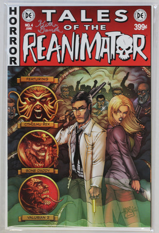 Reanimator #4 Signed in Silver by Keith Davidsen EC Style Variant Cover