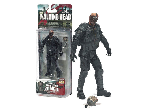 The Walking Dead Riot Gear Zombie With Gas Mask