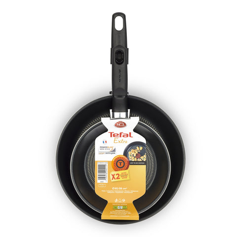 Tefal Extra PTFE Set of 20 and 26cm Pans
