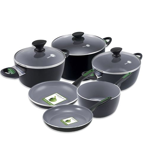 Greenpan Rio pot set - 10 piece