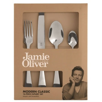 Jamie Oliver - Modern classic 16 pc Cutlery Set