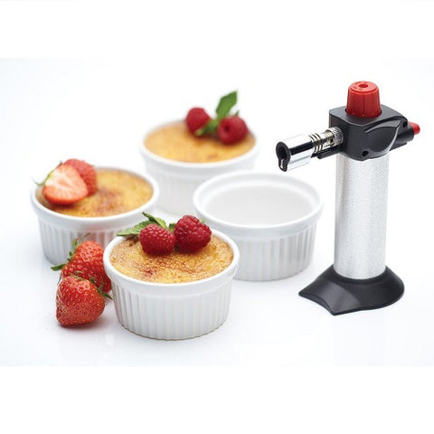Kitchen Craft Deluxe Cooks Blowtorch and Ramekin Gift Set