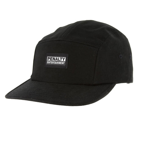 Penalty Entertainment 5 Panel Hat in Blck