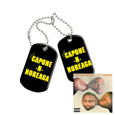 Capone-N-Noreaga Lessons Dog Tags and CD Bundle
