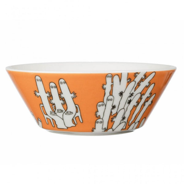 Moomin Hattifatteners Orange Cereal Bowl 15cm