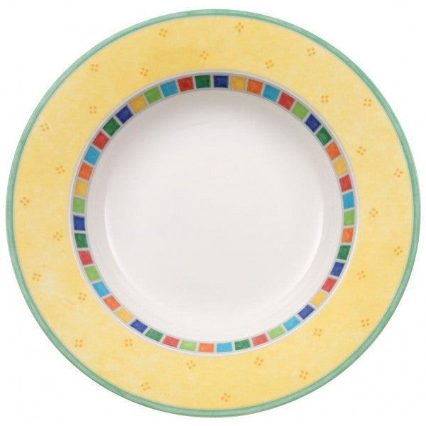 Villeroy and Boch Twist Alea Limone Deep Plate 24cm