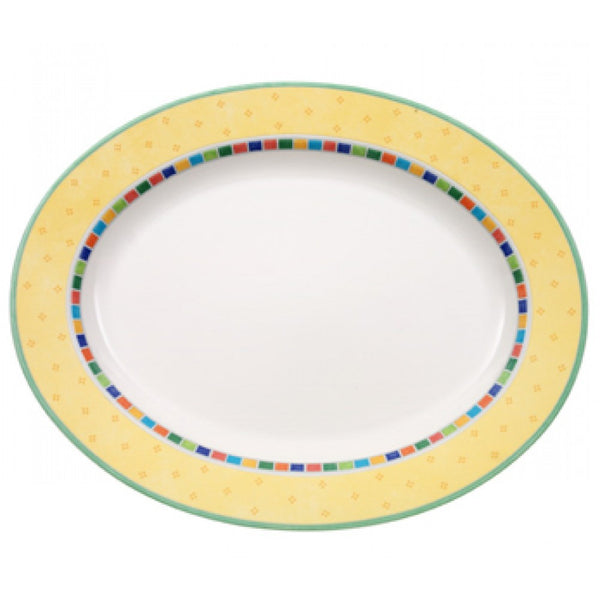 Villeroy and Boch Twist Alea Limone Oval Platter 41cm