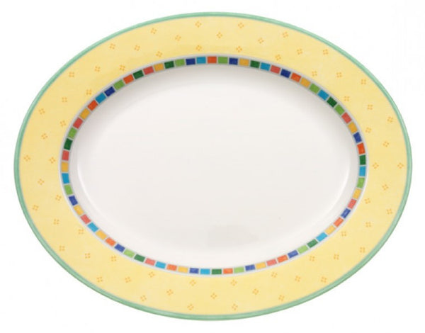 Villeroy and Boch Twist Alea Limone Oval Platter 34cm