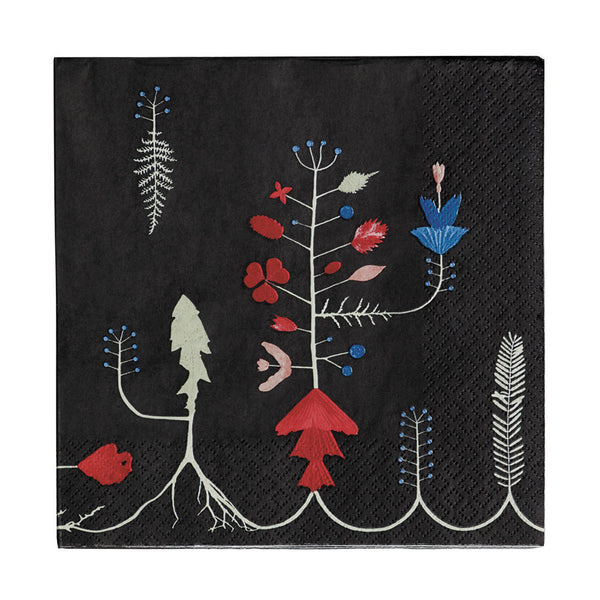 Iittala Sarjaton Black Paper Napkins 33cm (Set of 20)