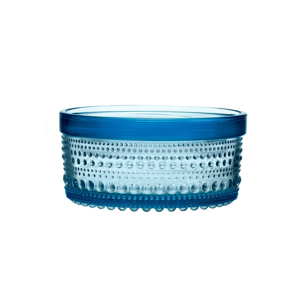 Iittala Kastehelmi Light Blue Storage Jar 12cm By 6cm