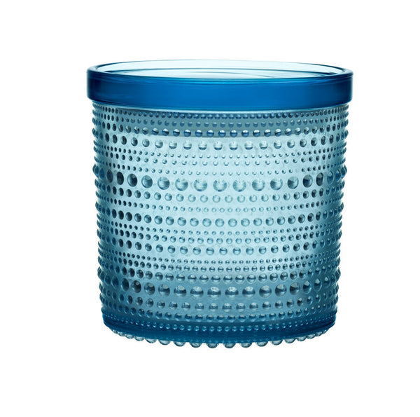 Iittala Kastehelmi Light Blue Storage Jar 12cm By 12cm