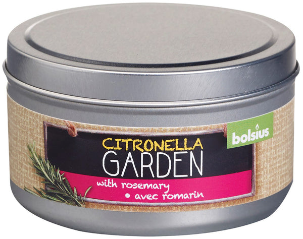 Bolsius April Rotation Citronella and Rosemary Tin Candle