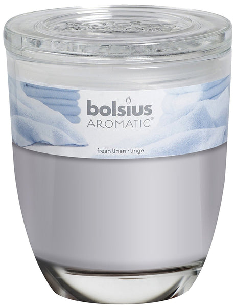 Bolsius Aromatic Fresh Linen Large Glassware Candle