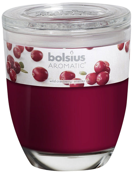 Bolsius Aromatic Wild Cranberry Large Glassware Candle