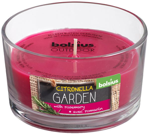 Bolsius April Rotation Citronella and Rosemary Glassware Candle